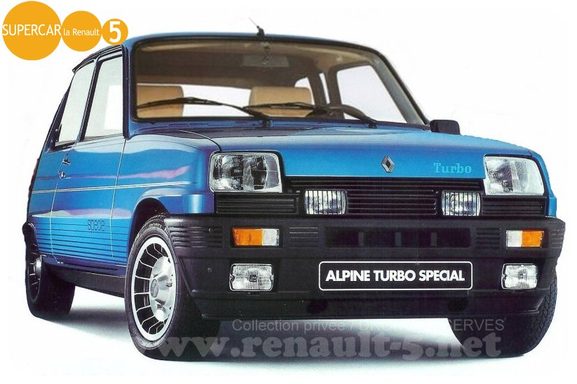 renault 5 alpine turbo special tout sur la renault 5. Black Bedroom Furniture Sets. Home Design Ideas