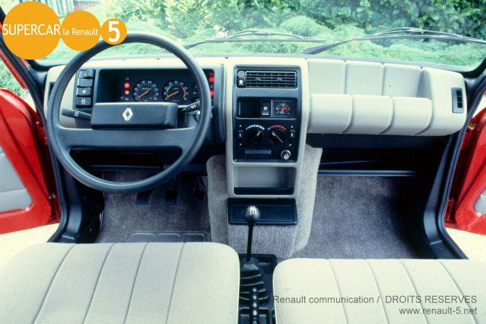 Renault 5 ts 1982 1984 tout sur la renault 5 for Renault super 5 interieur